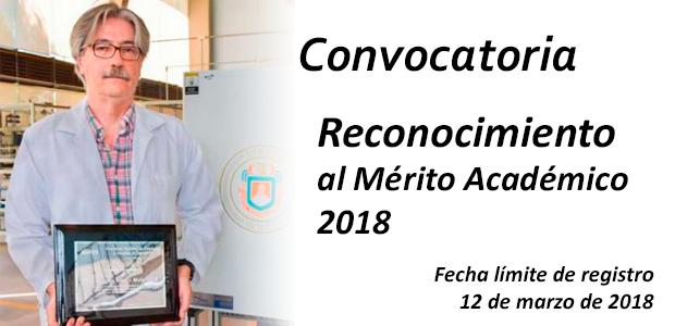 """Convocatoria """"Reconocimiento al Mérito Académico 2018"""""""