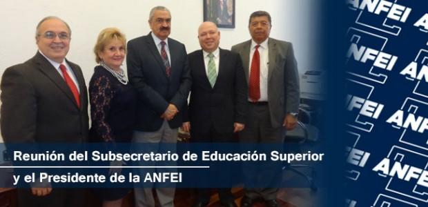 Reunión del Subsecretario de Educación Superior y el Presidente de la ANFEI