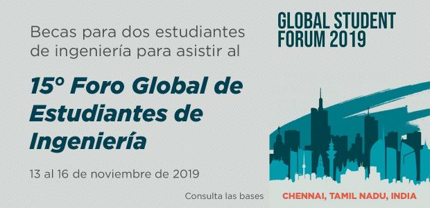 Becas para asistir al Foro Global de Estudiantes de Ingeniería de SPEED 2019