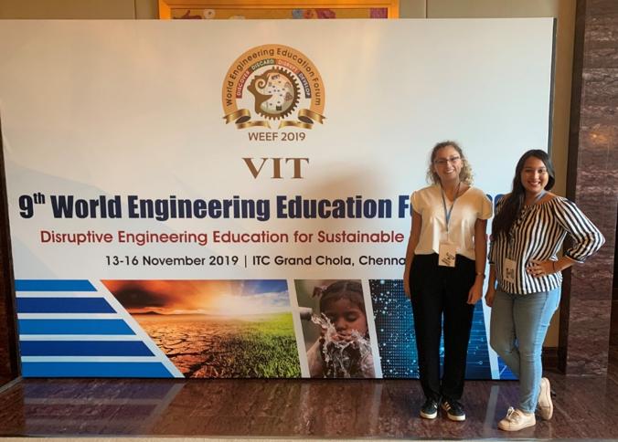 Décimo Quinto Foro Global de Estudiantes de Ingeniería llevado a cabo en el Foro Mundial de Educación en Ingeniería 2019 en Chennai, India.