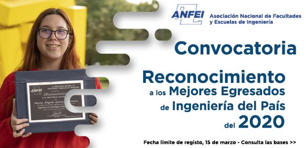 Convocatoria «Reconocimiento a los Mejores Egresados de Ingeniería del 2020»