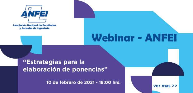 Webinar ANFEI – «Estrategias para la elaboración de ponencias»